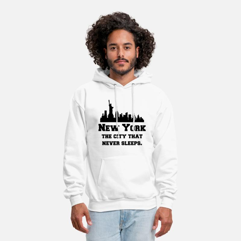 City Hoodies & Sweatshirts - New York (NYC) The City That Never Sleeps. - Men's Hoodie white