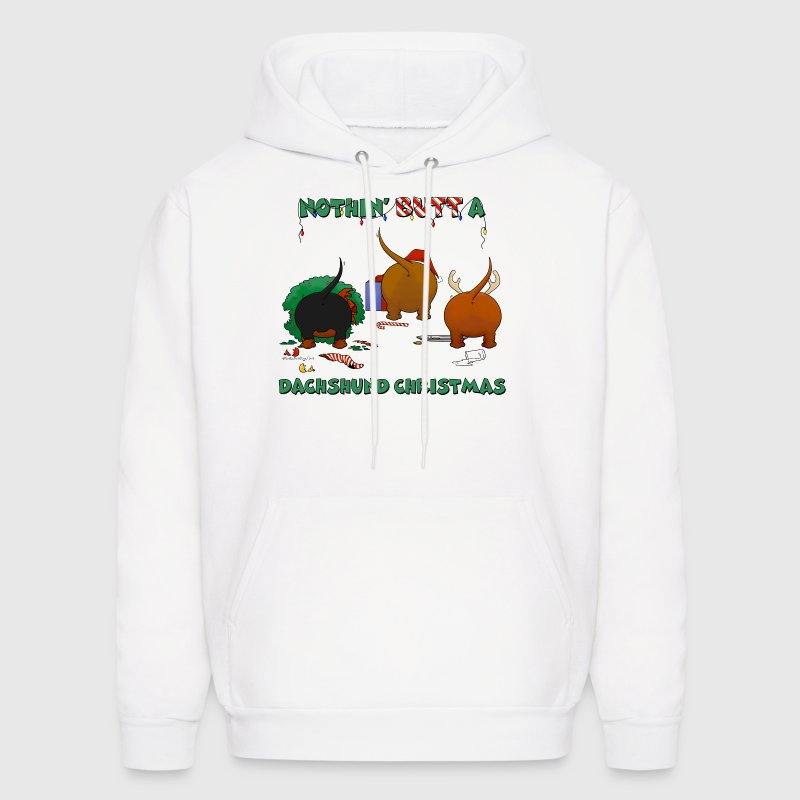 Nothin' Butt A Dachshund Christmas - Men's Hoodie