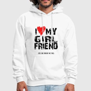 I Love Heart My Girlfriend - Men's Hoodie
