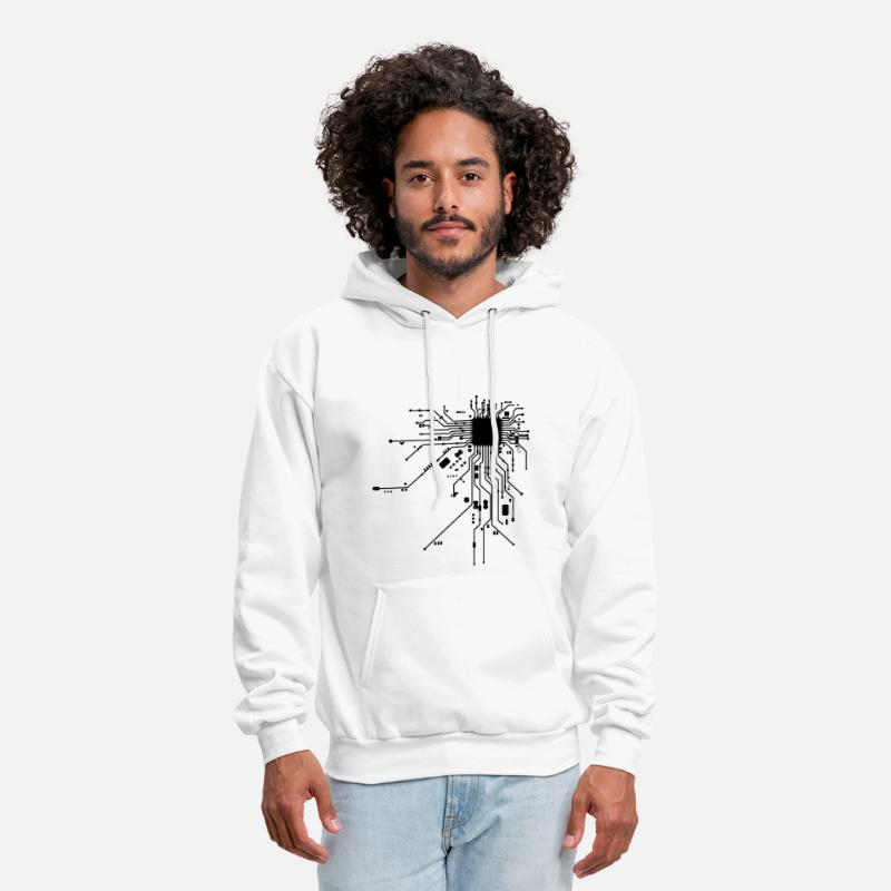 Cpu Hoodies & Sweatshirts - Heart CPU - Men's Hoodie white