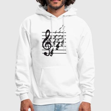 Music Note Musical Notes - Men's Hoodie