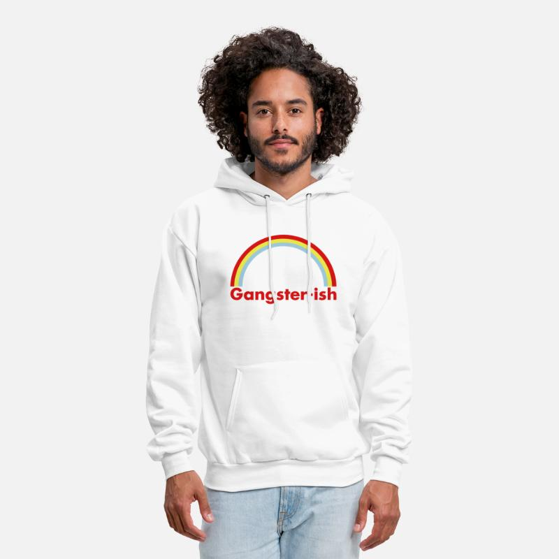 Colorful Hoodies & Sweatshirts - Gangster-ish - Men's Hoodie white