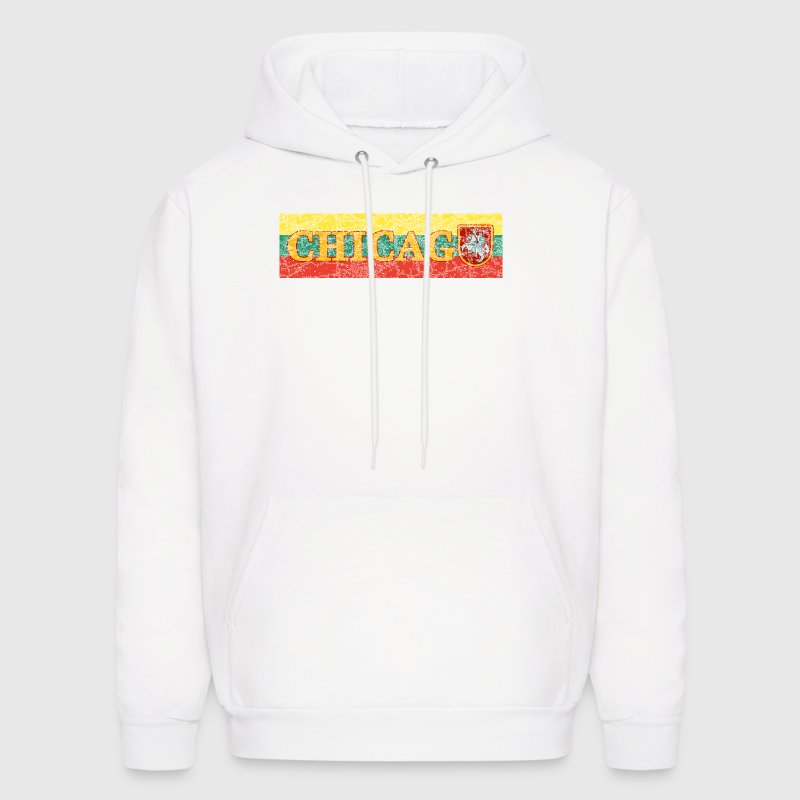 Chicago Lithuanian Lithuania Love Flag  - Men's Hoodie