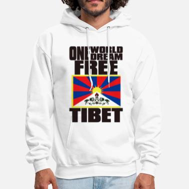 Free Tibet ONE WORLD ONE DREAM FREE TIBET - Men's Hoodie