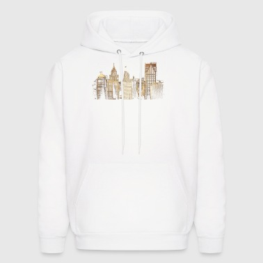 I Love This City Detroit Skyline Photo - Men's Hoodie