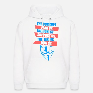 Mask Anonymous Mask Slogan - Men's Hoodie