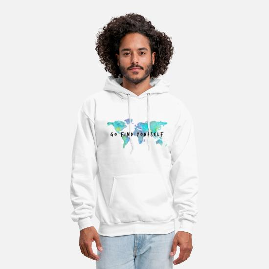 Travel Hoodies & Sweatshirts - Go Find Yourself - Travel The World! - Men's Hoodie white
