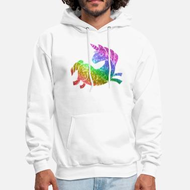 Rainbow Galaxy Unicorn rainbow glitter unicorn - Men's Hoodie