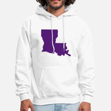 Louisiana State of Louisiana solid - Men's Hoodie