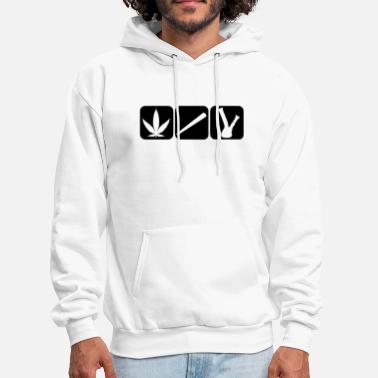 Bong Cannabis hemp leaf bag joint, bong water pipe - Men's Hoodie
