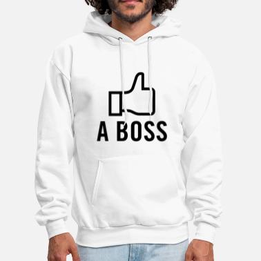 Men's Humor Like a Boss - Men's Hoodie