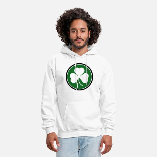 Ireland Hoodies & Sweatshirts - Circle Shamrock Irish Ireland - Men's Hoodie white