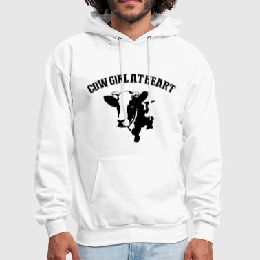 cow girl at heart farm cow - Men's Hoodie