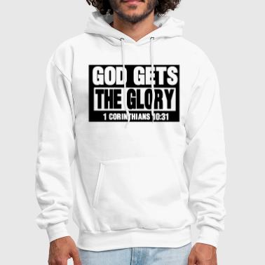 GOD GETS THE GLORY  - Men's Hoodie