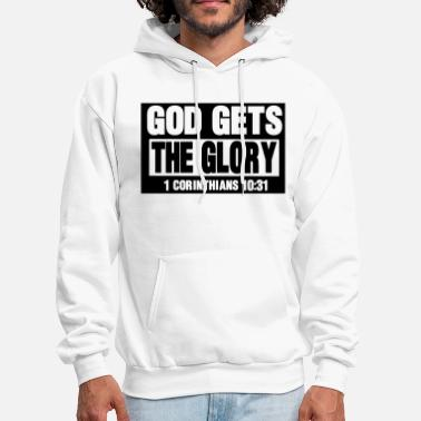 Cool Christian GOD GETS THE GLORY  - Men's Hoodie