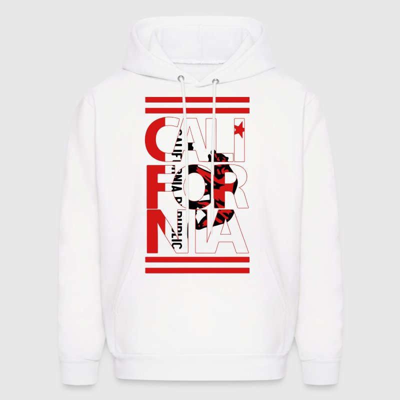 California Flag Bear - Men's Hoodie