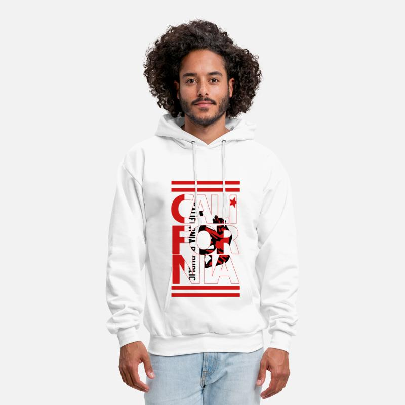 Cali Swag Hoodies & Sweatshirts - California Flag Bear - Men's Hoodie white