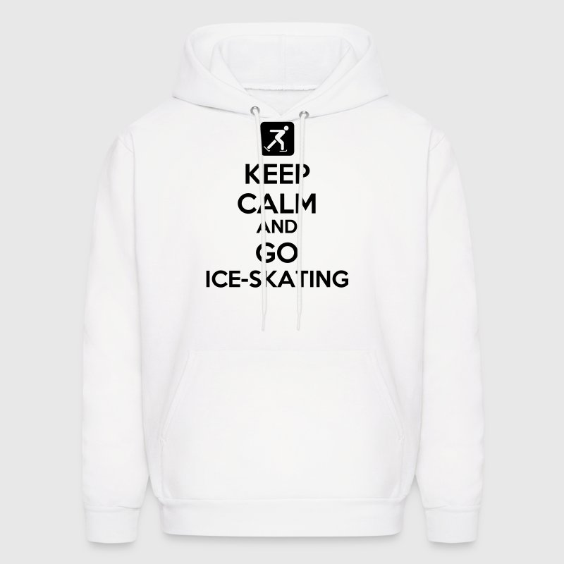 Keep Calm And Go Ice-Skating - Men's Hoodie