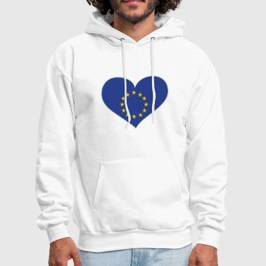 Europe Heart; Love Europe - Men's Hoodie