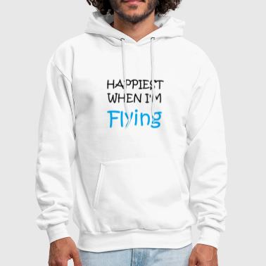 Happiest When I'm Flying T-Shirt - Men's Hoodie