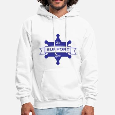 Law Enforcement Law Enforcement Support Blue - Men's Hoodie