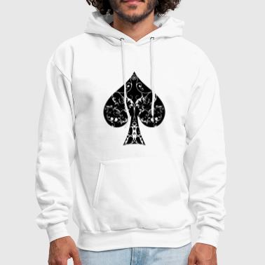 Ace of Spade floral tribal spades poker hold ´em - Men's Hoodie