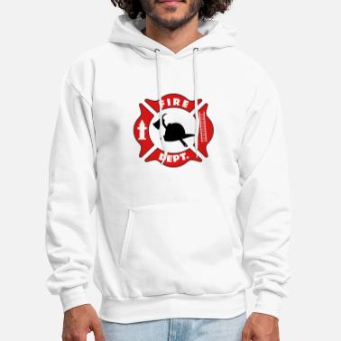 Fire Fire Department Logo - Men's Hoodie