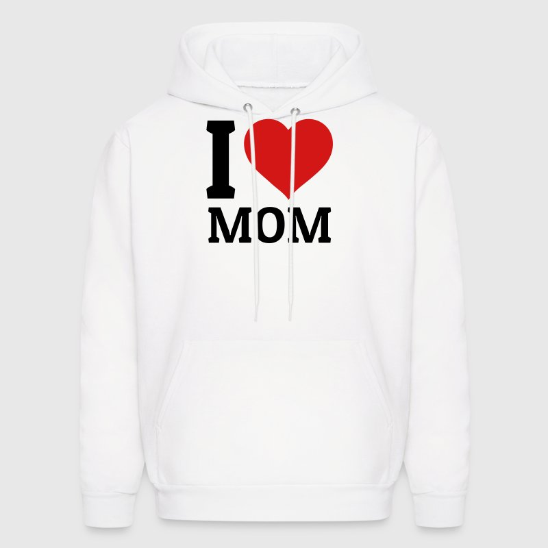 I love Mom - Men's Hoodie