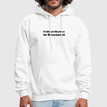 Basement Fall-out Shelter in Basement - Men's Hoodie