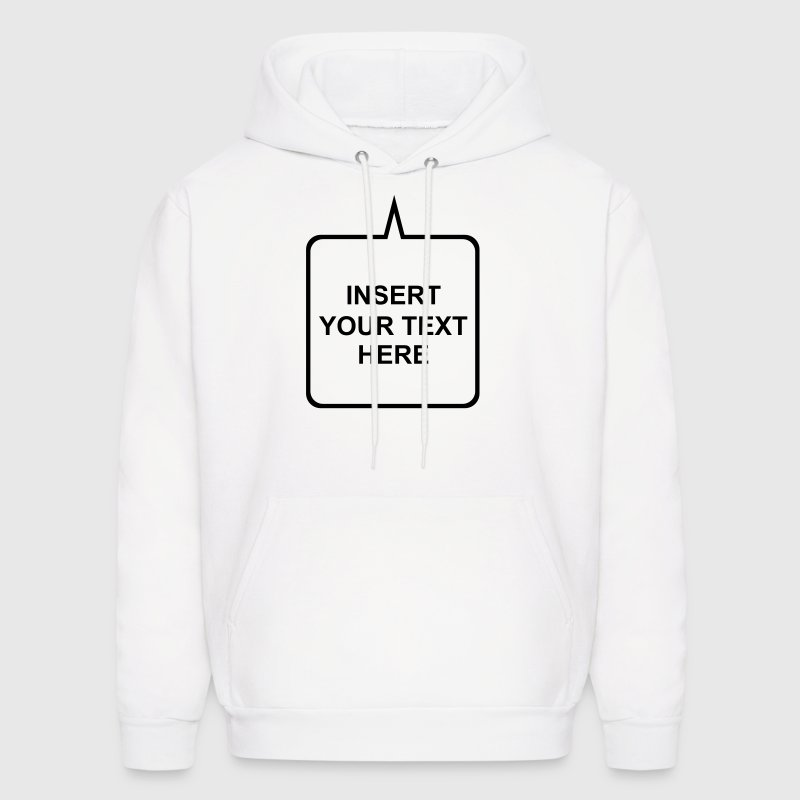 Custom Add your Own Text,Fonts, and Colors - Men's Hoodie