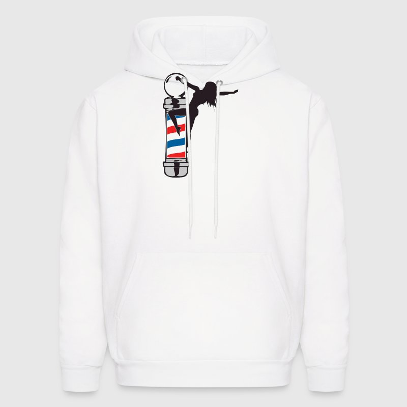Sexy Barber Pole Girl - Men's Hoodie