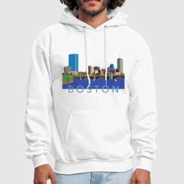 Back Bay Boston Skyline - Men's Hoodie