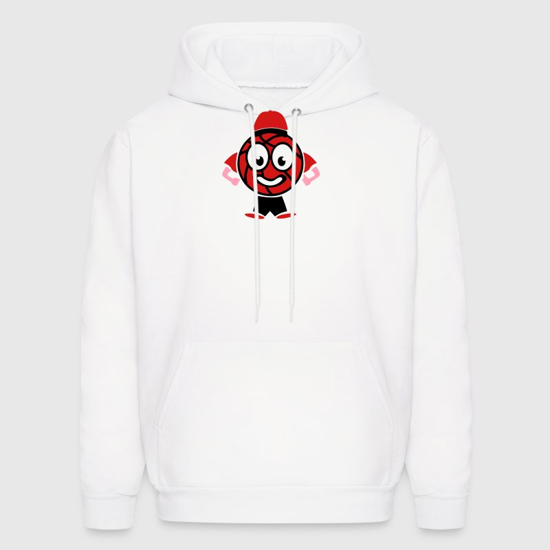 basketball character funny man - Men's Hoodie