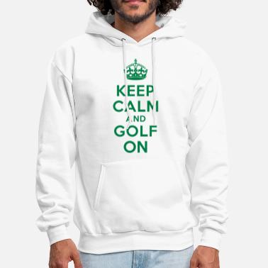 Keep Calm Crown Keep calm and golf on crown - Men's Hoodie