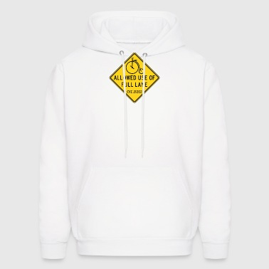 Bikes Allowed Use of Full Lane with Penny Farthing - Men's Hoodie
