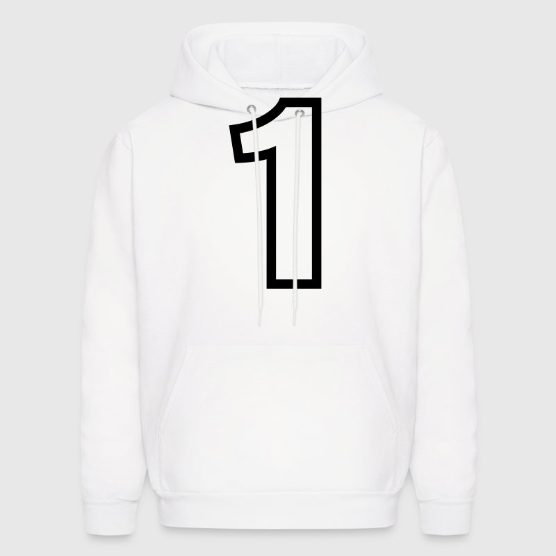 Condensed Number 1 Outline (1c)++ - Men's Hoodie