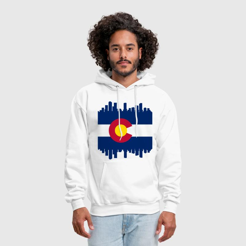 Colorful Colorado Skyline Flag - Men's Hoodie