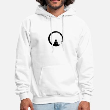 Buddhism Enso, Zen, meditation, Buddha, Buddhism, Japan - Men's Hoodie