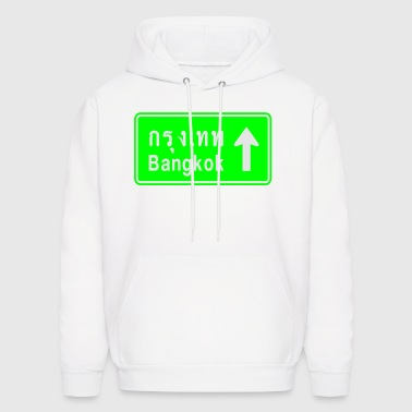 Bangkok, Thailand / Highway Road Traffic Sign - Men's Hoodie