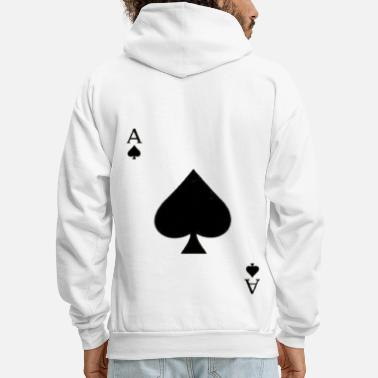 Playing Card Ace of spades - Men's Hoodie