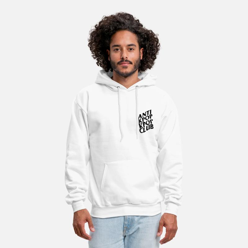 Antisocial Hoodies & Sweatshirts - Anti Kpop Kpop Club - Men's Hoodie white