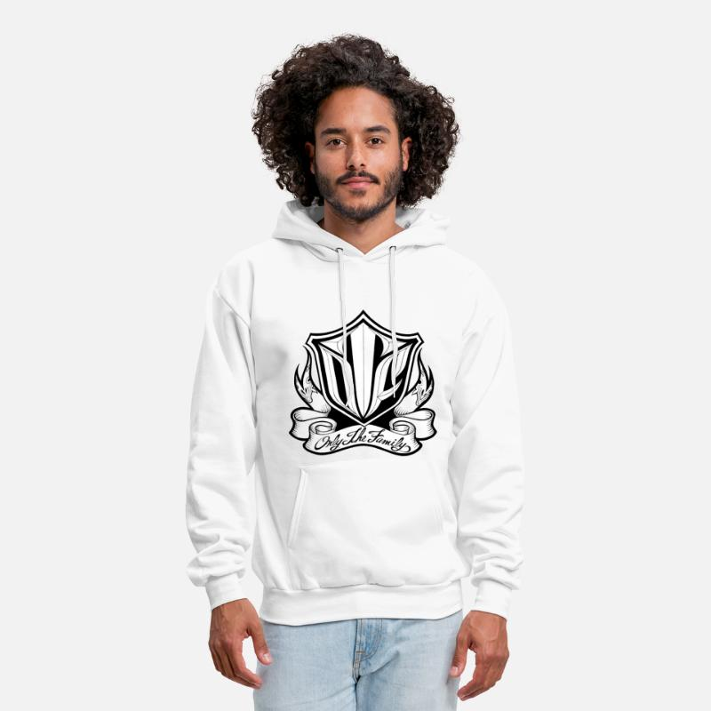 Hip Hop Hoodies & Sweatshirts - OTF hoody by BAD Clothing - Men's Hoodie white
