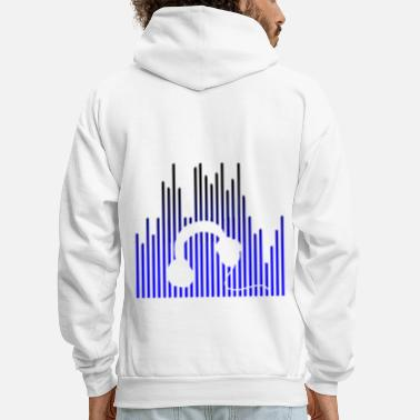 Record EQUALIZER and Headphones - Men's Hoodie