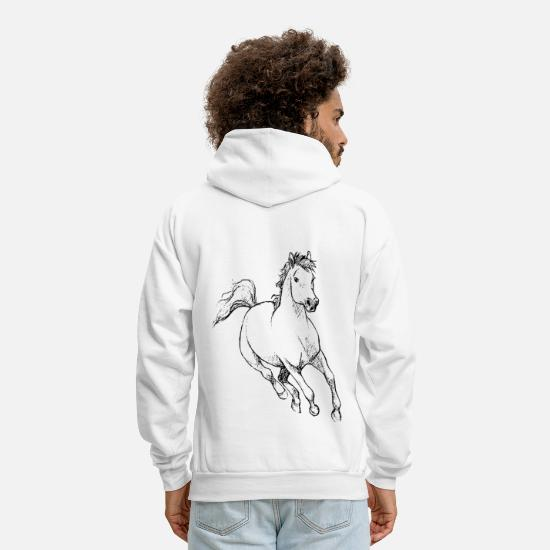 Gift Idea Hoodies & Sweatshirts - A wild horse gift idea - Men's Hoodie white