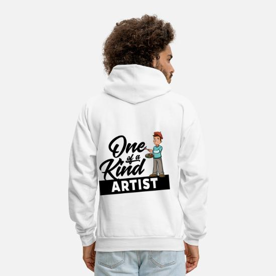 Kind Hoodies & Sweatshirts - Artist Künstler - One of a kind - Men's Hoodie white