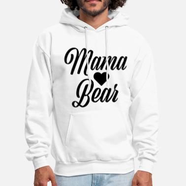 Funny Pregnancy mama bear pregnancy announcement mom life pregnant - Men's Hoodie