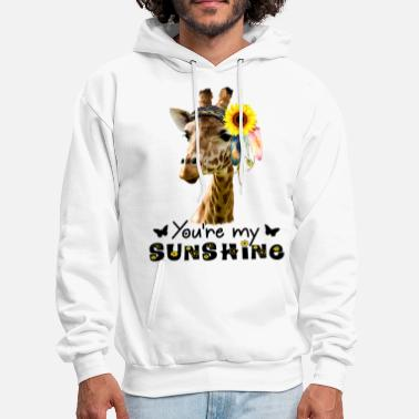 you re my sunshine giraffe boyfriend - Men's Hoodie