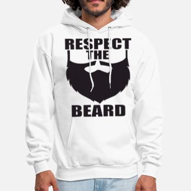 Beard Gang Respect The Beard Funny Facial Hair Hipster Summer - Men's Hoodie