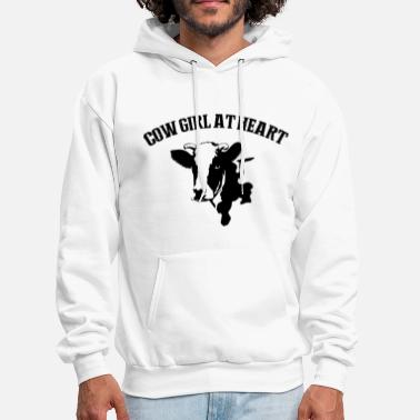 Cow Girl cow girl at heart farm - Men's Hoodie