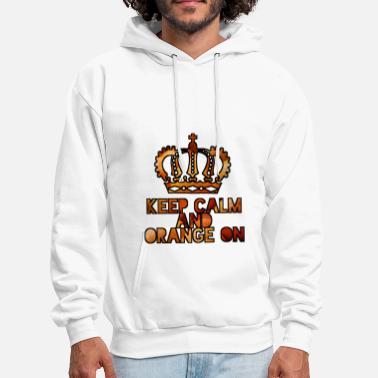 Netherlands Keep calm and orange on - Men's Hoodie